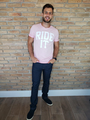 Camiseta Ride It Rosa Claro