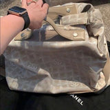Chanel Travel collection large carry on canvas bag - ReLuxe.
