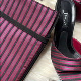 New Matching purple Bally Evening bag & mules - ReLuxe.