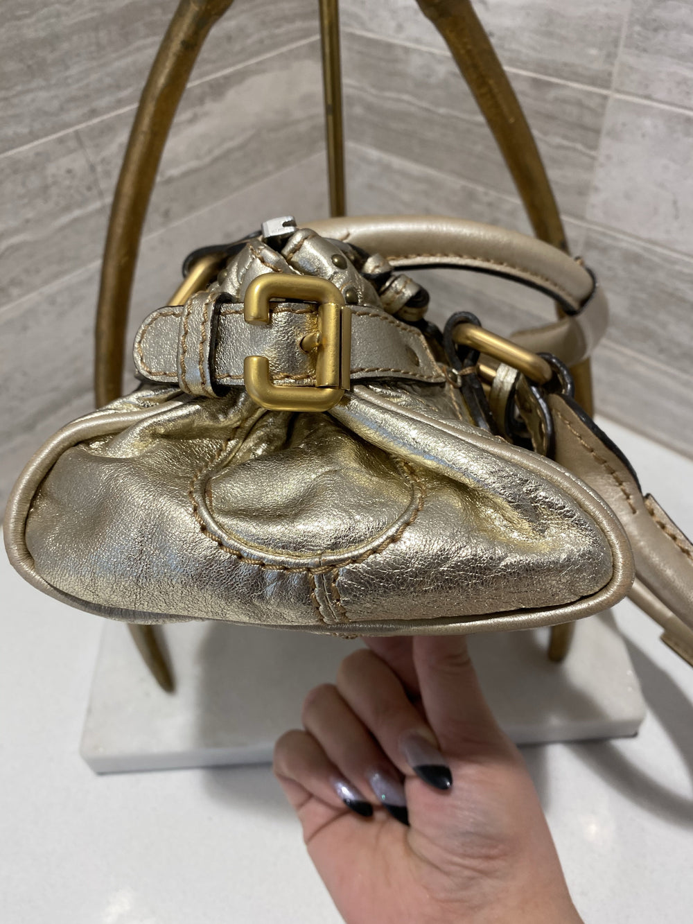 Chloe Mini Paddington Metallic Gold