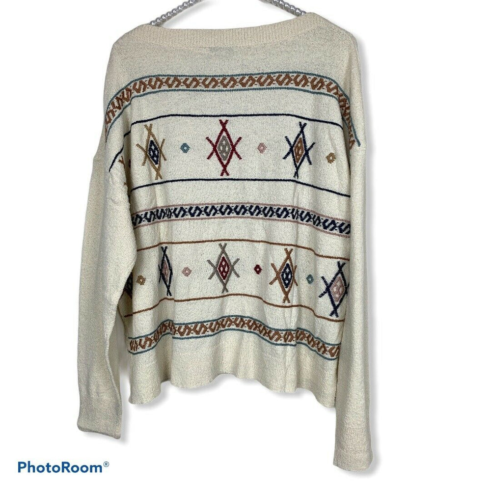 Madewell Embroidered Reseda Pullover Sweater Size Medium #H6909 $98 NWT