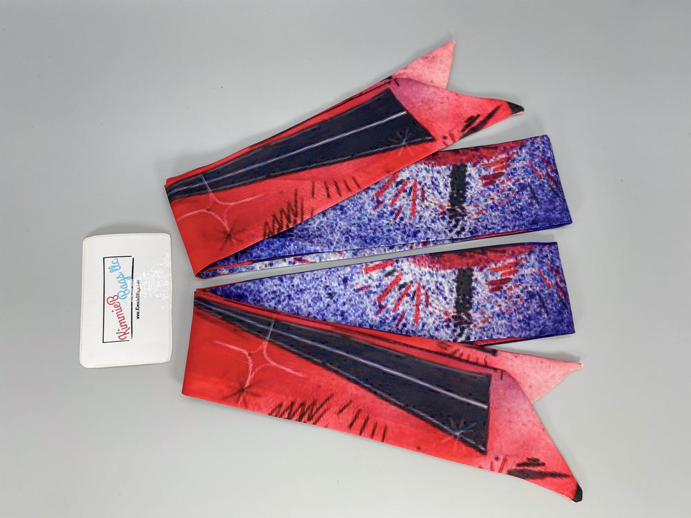 2 Scarf Wrap Twilly Set - 29 Various Prints