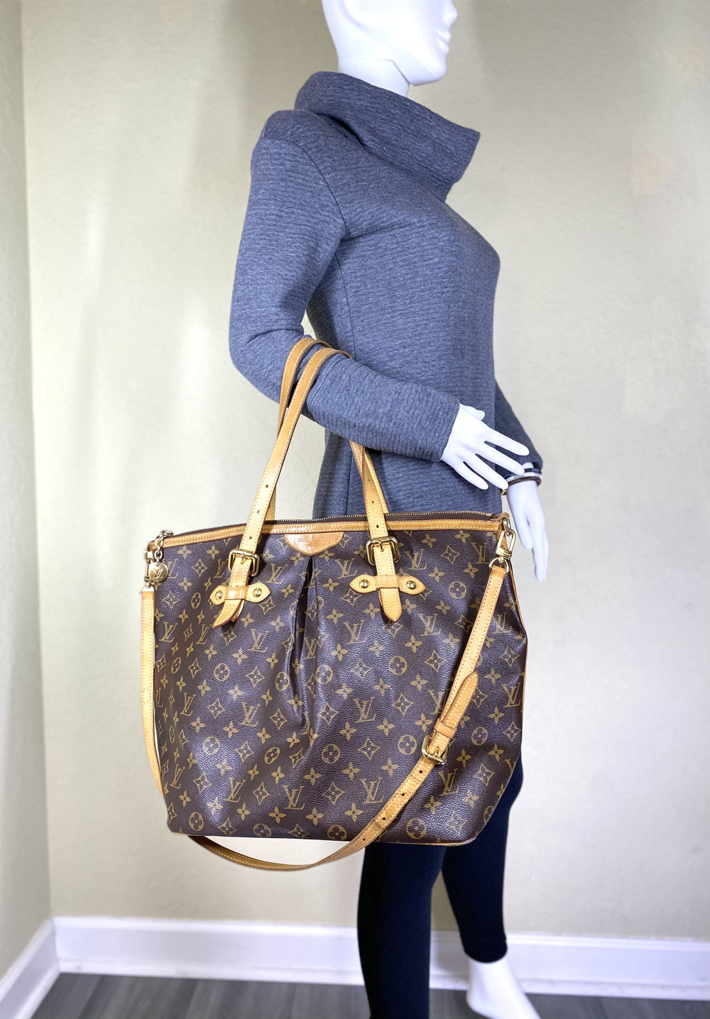 Vintage Palermo GM Monogram Tote with Strap