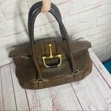 "Scuola del Cucio Made in Italy Leather Top Handle ""School of Leather"" Handbag"
