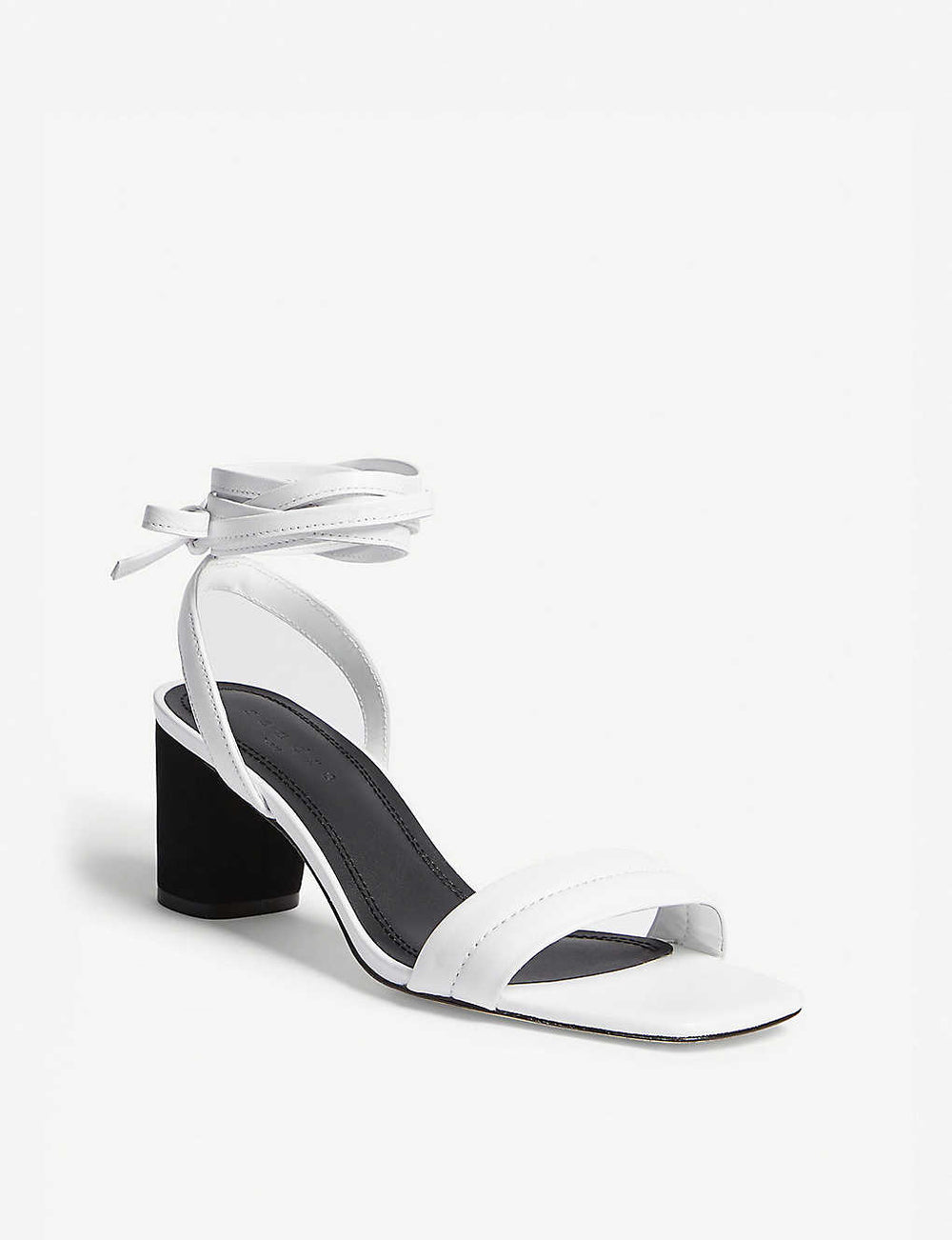 Sandro lauren leather heeled sandals NIB