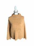 NWT Vince. brown teddy mock neck pullover size Medium