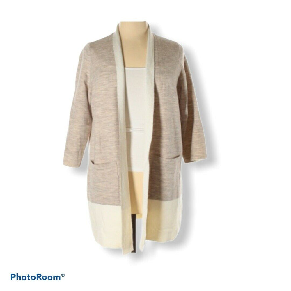 Eileen Fisher Merino wool cashmere Cardigan maple oat size 1X #F16KOF