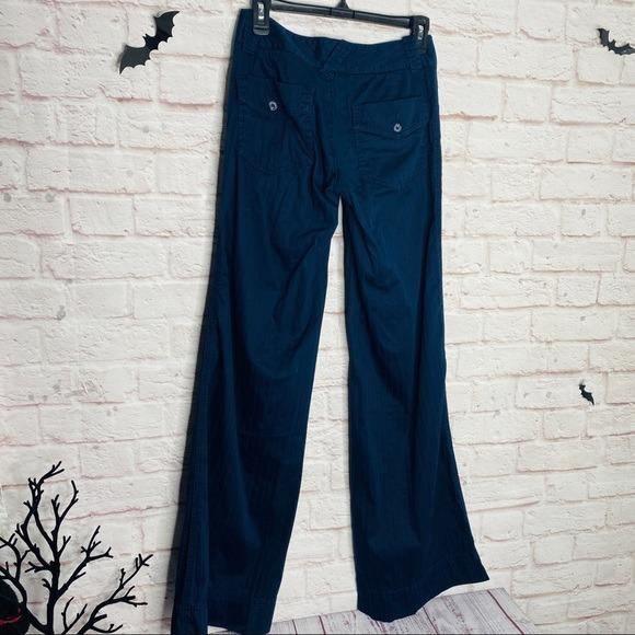JOIE Navy Blue Pants Wide Leg Pinstripe Bootcut Mid Rise Jeans