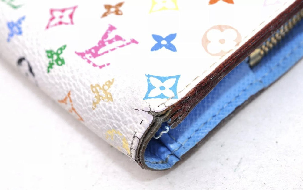 Limited Edition Multicolor White Canvas Insolite Wallet