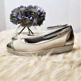 HOGAN Ivory Ballerina Wedge Flat w/Ankle Strap - ReLuxe.
