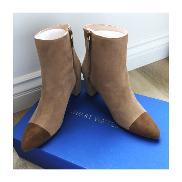 Stuart Weitzman NWT two-time suede boots, 9M