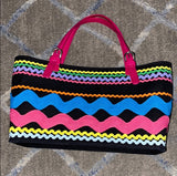 Moschino-Vintage Multi Color rickrack tote