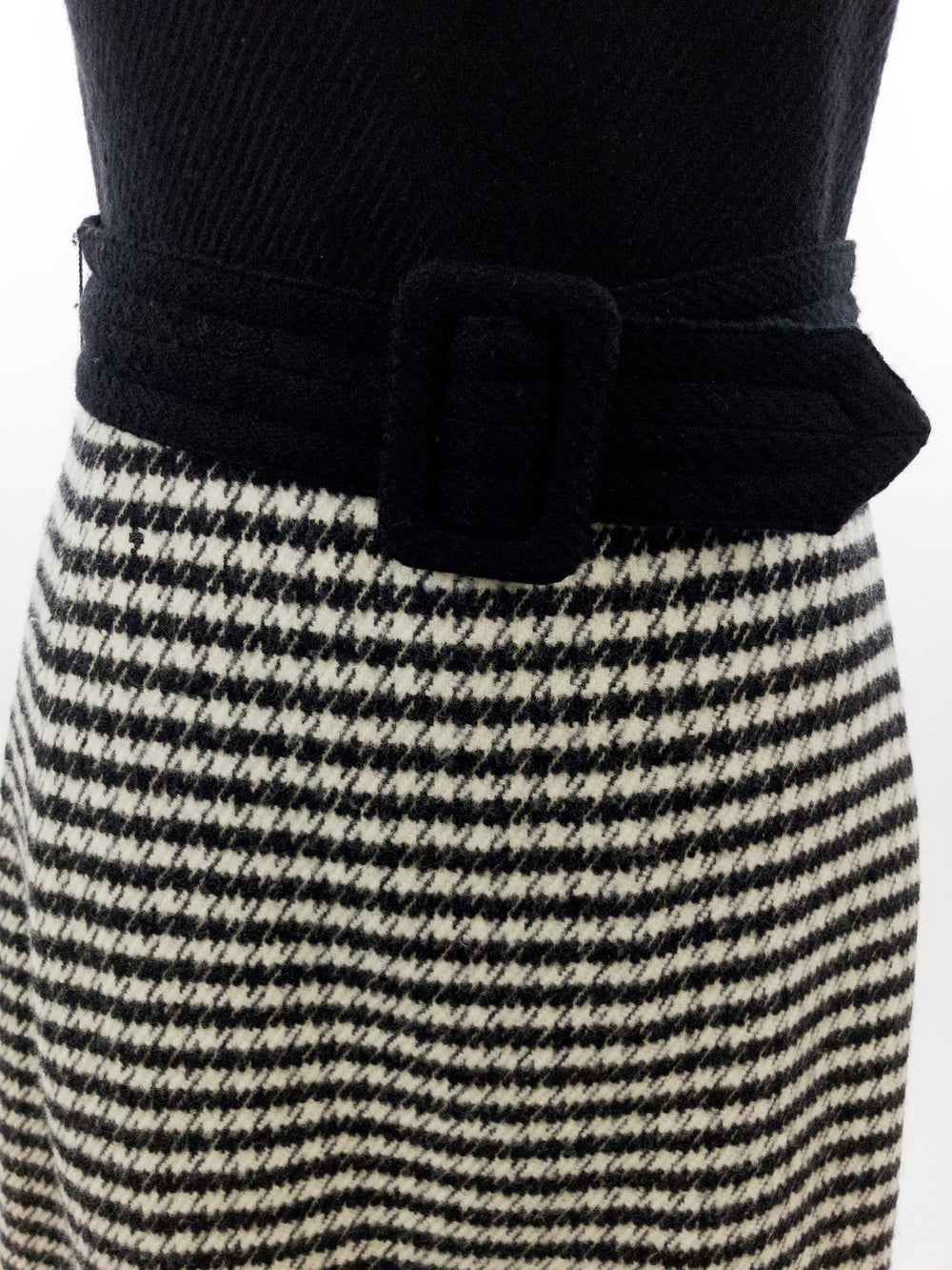 Ralph Lauren Wool & Cashmere Houndstooth Sheath Dress [Size 6] - ReLuxe.