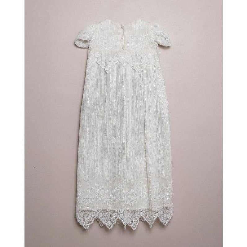 TULE PLISSE CHRISTENING GROWN at $249.9 from Vila Kids