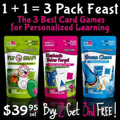 ~   Learning Lunch Bags   ~   3 Pack Feast