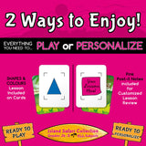 Reusable MATCHING Card Game for Personalized Learning