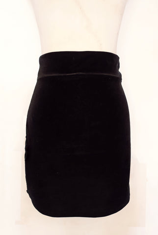 MINI TUBE VELVET HIGH WAIST SKIRT