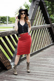 Ethnic Cage Short Skirt