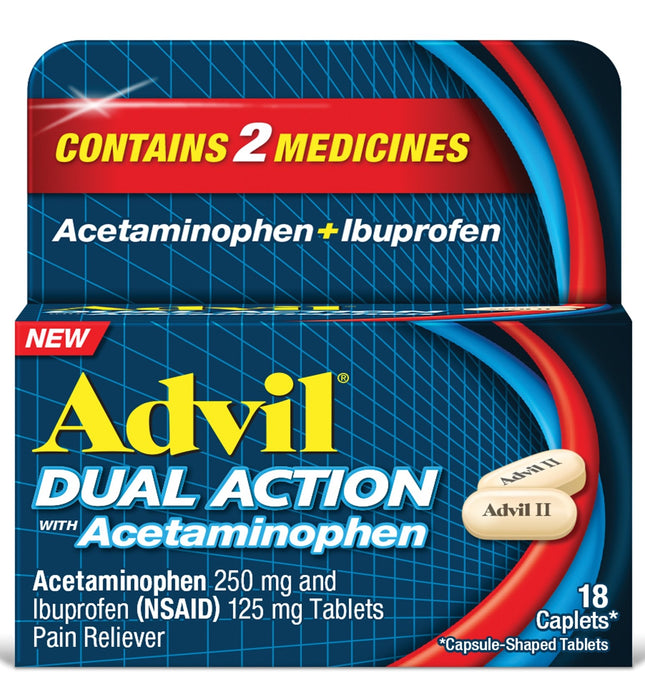 Advil® Dual Action with Acetaminophen Caplets