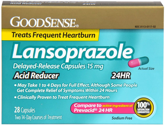 GoodSense® Lansoprazole Delayed Release Acid Reducer 15mg Capsules