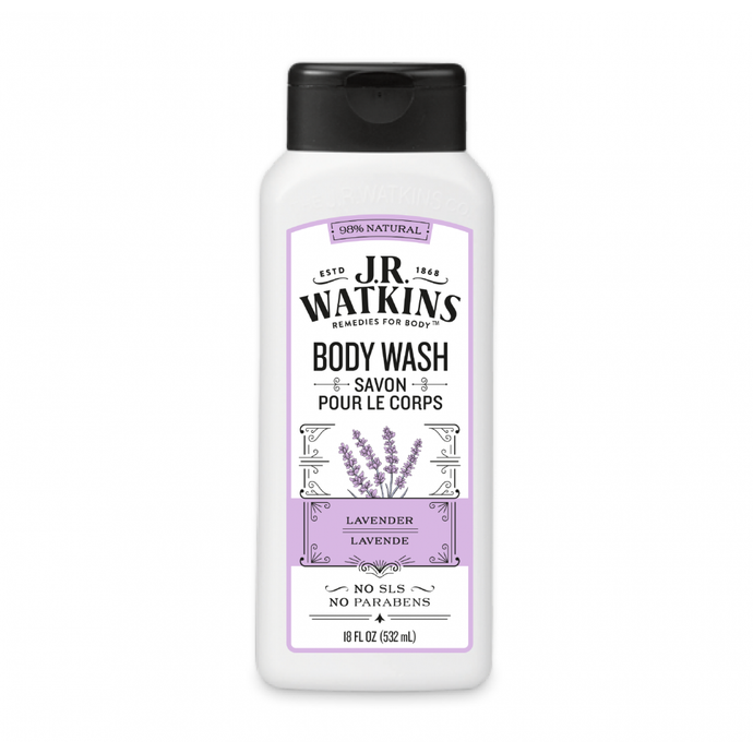J.R. Watkins Lavender Daily Moisturizing Body Wash 18fl. oz.