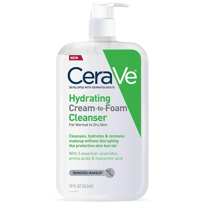 CeraVe® Hydrating Cream-To-Foam Cleanser 12fl. oz.