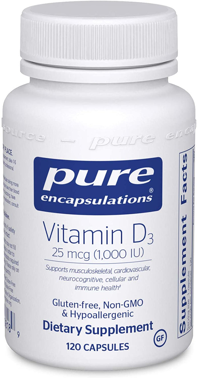 Pure Encapsulations® Vitamin D3 1000 IU Capsules 120ct.