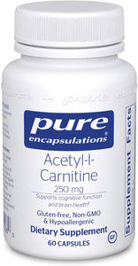Pure Encapsulations® Aceytl-L-Carnitine 500mg 60ct.