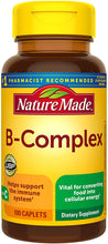 Load image into Gallery viewer, Nature Made® B-Complex with Vitamin C Caplets 100ct.