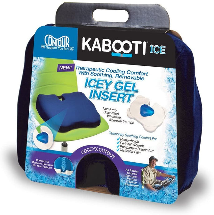 Contour® Kabooti® Ice Coccyx Blue Seat Cushion