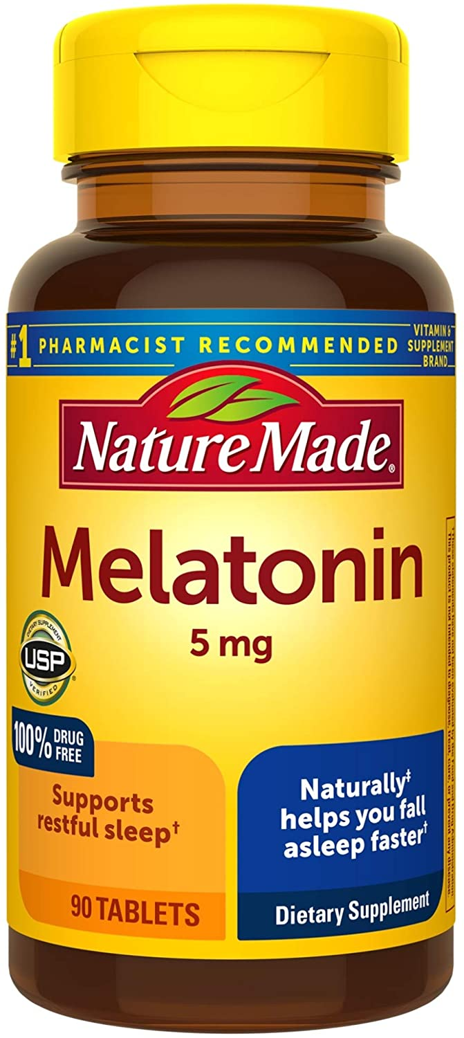 Nature Made® Melatonin 5mg Tablets 90ct.