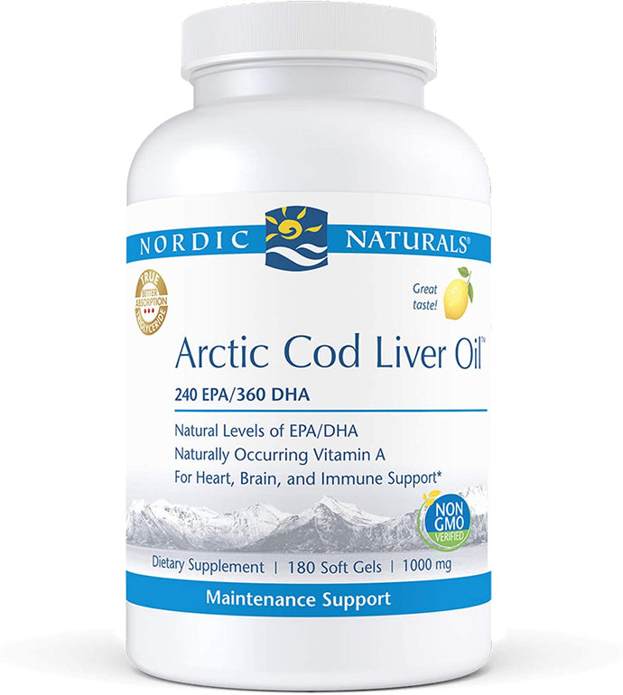 Nordic Naturals® Arctic Cod Liver Oil Lemon Softgels 180ct.