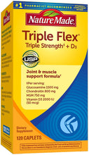 Load image into Gallery viewer, Nature Made® Triple Flex With Vitamin D Caplets 120ct.