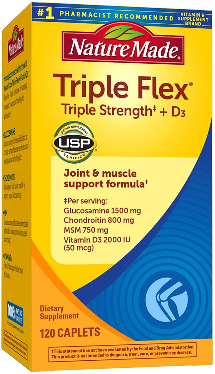 Nature Made® Triple Flex With Vitamin D Caplets 120ct.
