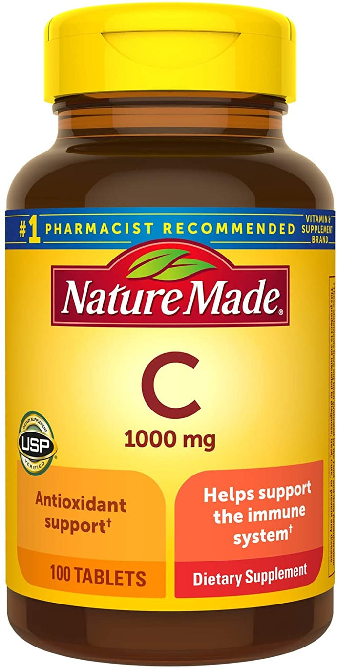 Nature Made® Vitamin C 1000mg Tablets 100ct.