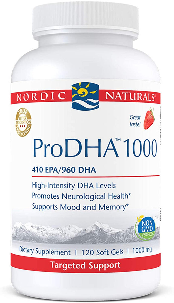 Nordic Naturals® ProDHA 1000mg Strawberry Flavored Capsules 120ct.