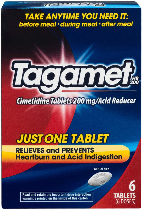 Tagamet® HB 200 Heartburn and Acid Indigestion Tablets 6ct.