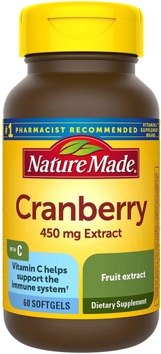 Nature Made® Cranberry Extract 450mg Softgels 60ct.