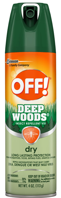 OFF!® Deep Woods® Dry Insect Repellent Spray 4oz.