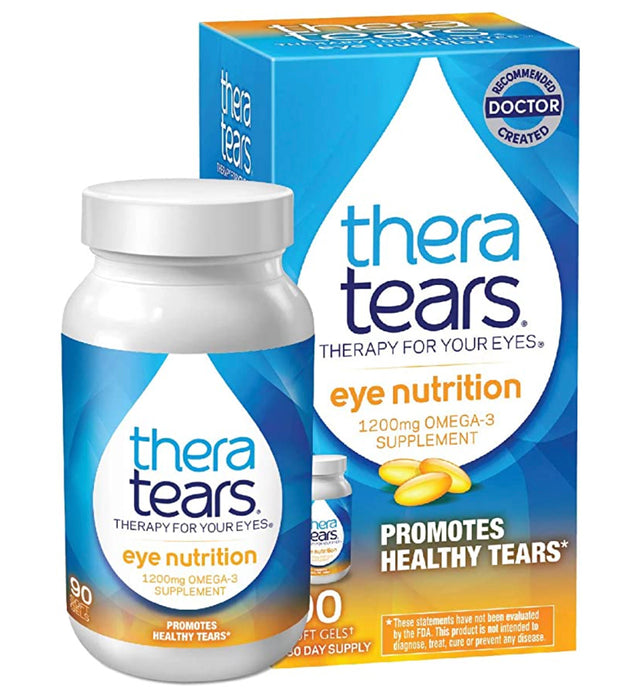 TheraTears® 1200 mg Omega-3 Eye Nutrition Softgels 90ct.