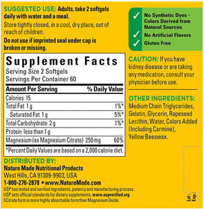 Nature Made® Magnesium Citrate 250mg Softgels 120ct.