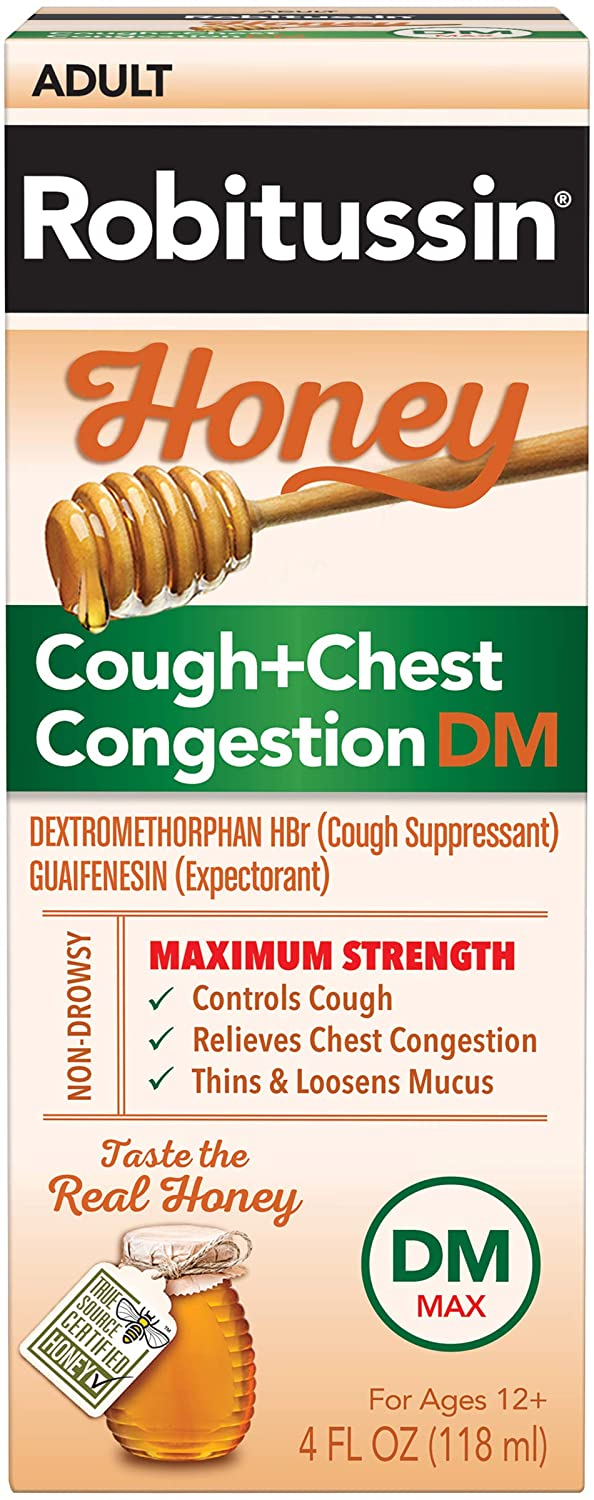 Robitussin® Honey Cough & Chest Congestion DM for Adults 4fl. oz.