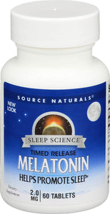 Source Naturals®Timed-Release Melatonin 2mg Tablets 60ct.