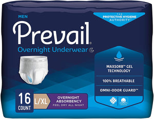 Prevail® Overnight Underwear For Men Large/Extra Large 16ct.