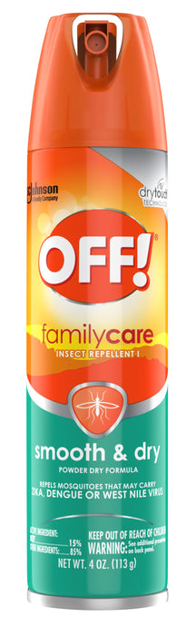 OFF!® Family Care Insect Repellent Smooth & Dry Spray 4oz.