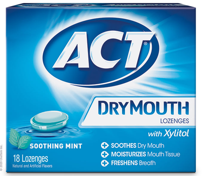 ACT® Dry Mouth Lozenges with Xylitol 18ct.