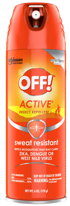 OFF!® Active® Sweat Resistant Insect Repellent Spray 6oz.