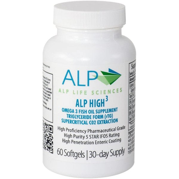 ALP High-3® Omega-3 Fish Oil Supplement Capsules 60ct.