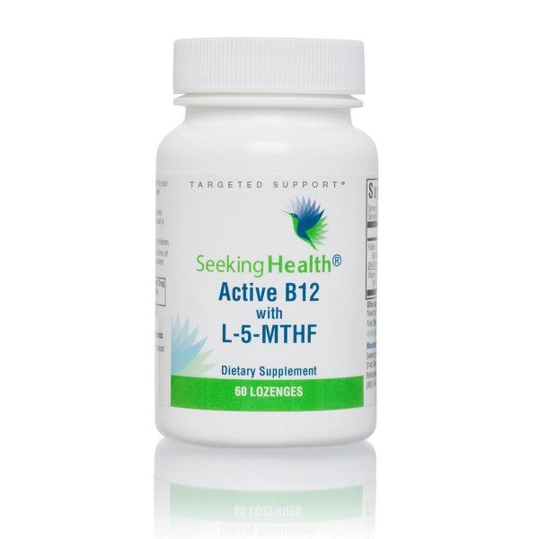 Seeking Health® Active B12 with L-5-MTHF Lozenges 60ct.