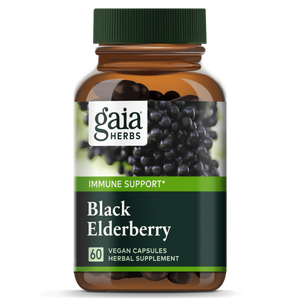 Gaia® Herbs Black Elderberry Capsules 60ct.